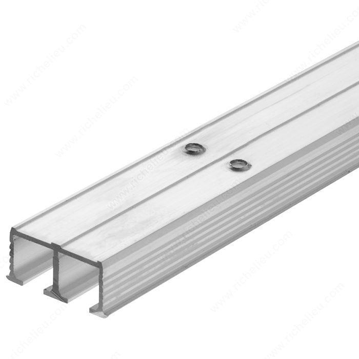 Riel de rodamiento doble para empotrar y atornillar clipo for Sistema para puertas corredizas
