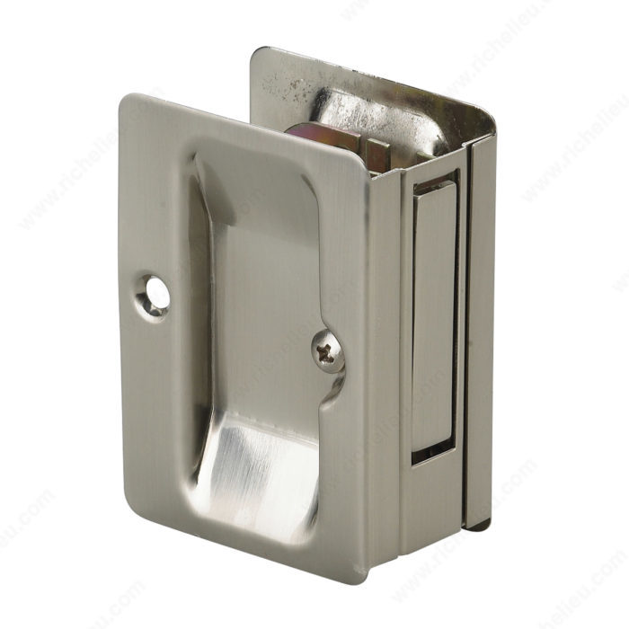 Pocket Door Pull With Passage Handle Rectangular