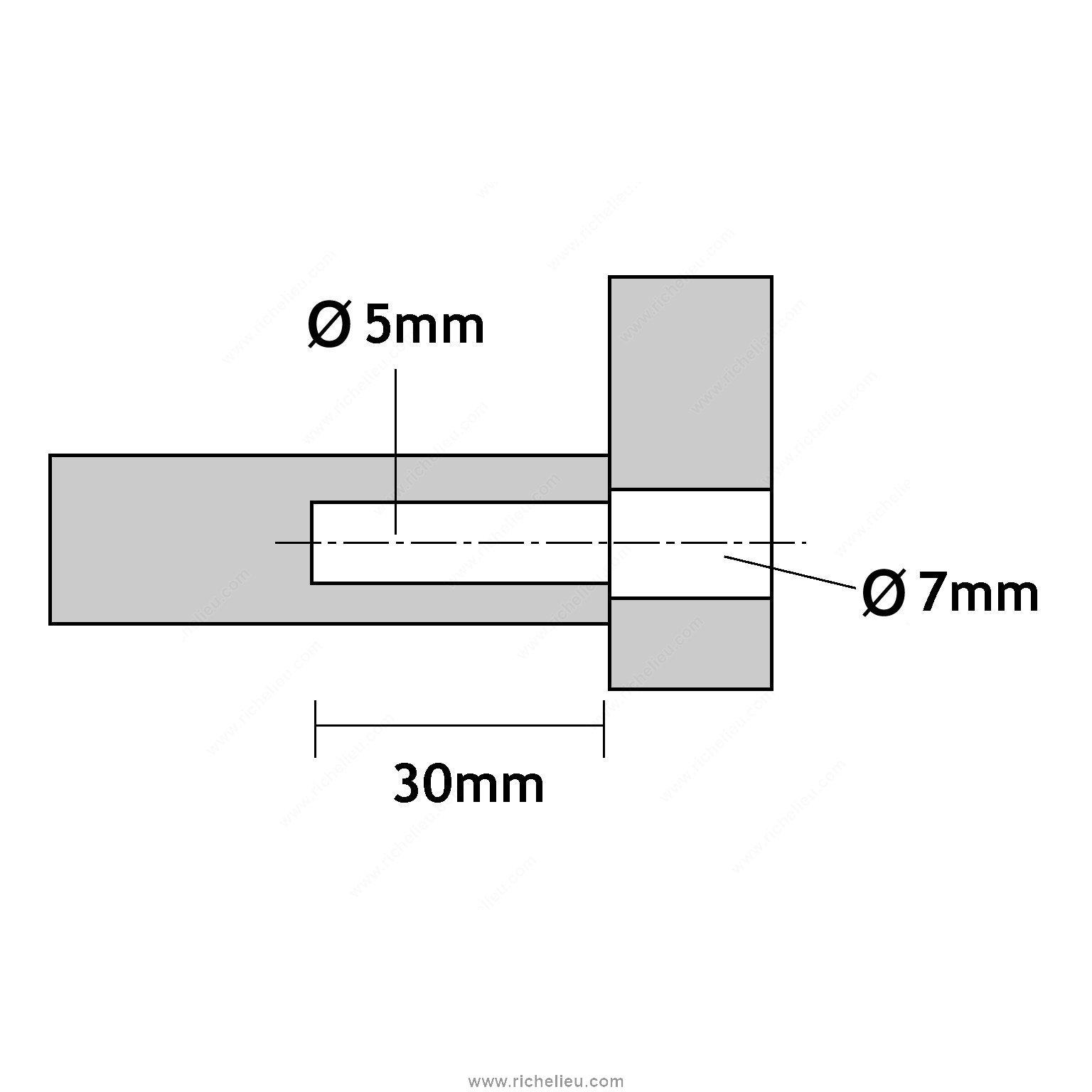 vis d 39 assemblage double verrouillage t te confirmat. Black Bedroom Furniture Sets. Home Design Ideas