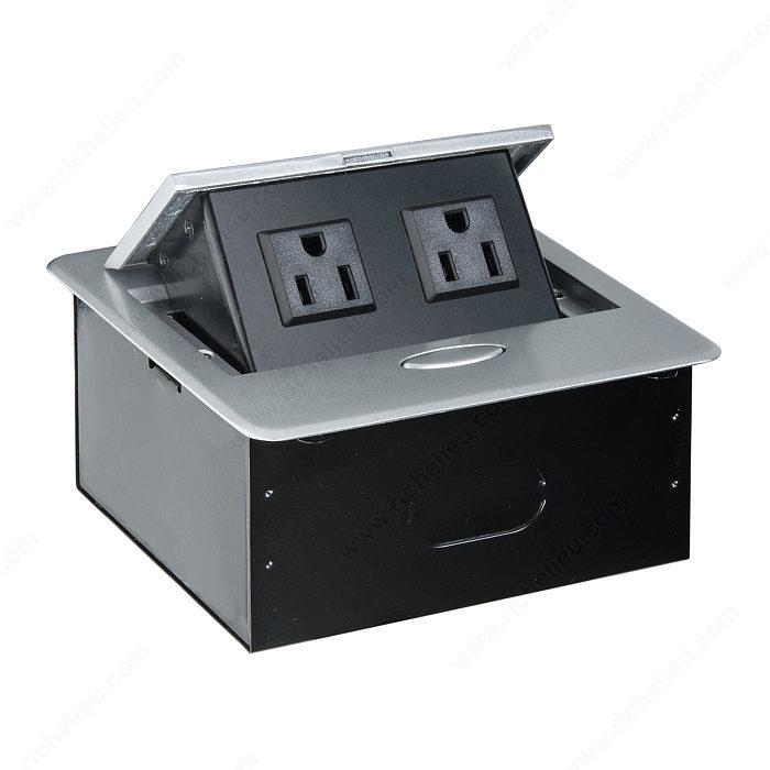 Borne electrique exterieur cheap borne lumineuse avec - Borne eclairage exterieur avec prise de courant ...