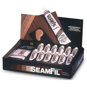 SeamFil Woodgrain Kit for Plastic Laminate Repair