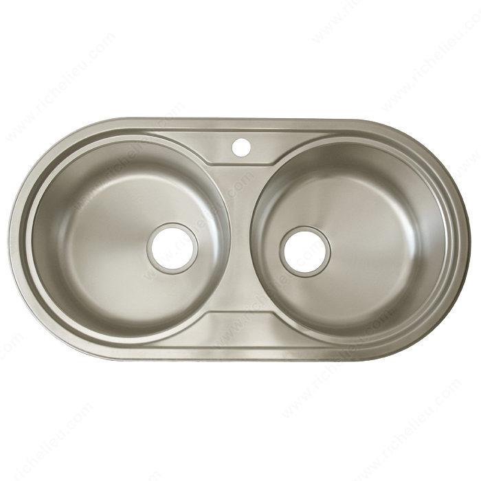 Richelieu Sink - Double Round - Richelieu Hardware