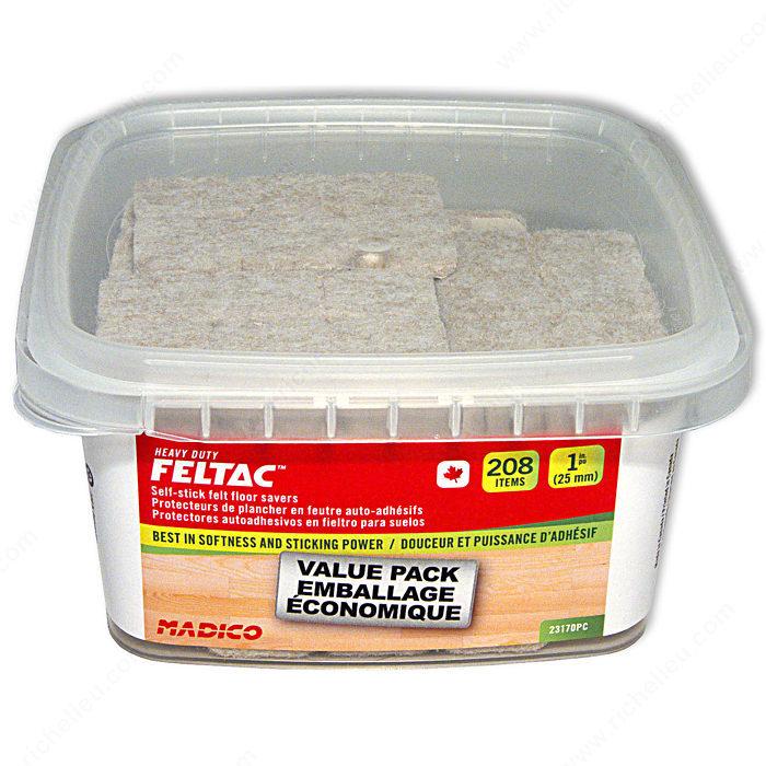 Heavy Duty Glass Glue : Feltac heavy duty self adhesive square felt pads
