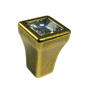Transitional Knob in Metal and Swarovski Crystal - 2421