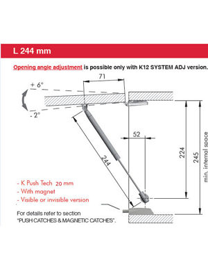 Drilling Template with Standard Hinges - Push-to-Open