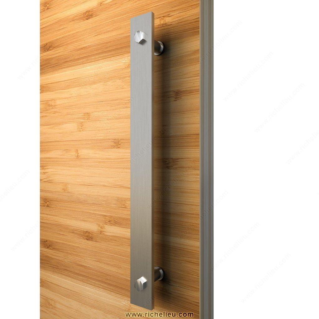 Poign e simple pour porte de bois quincaillerie richelieu for Poignee de porte bois