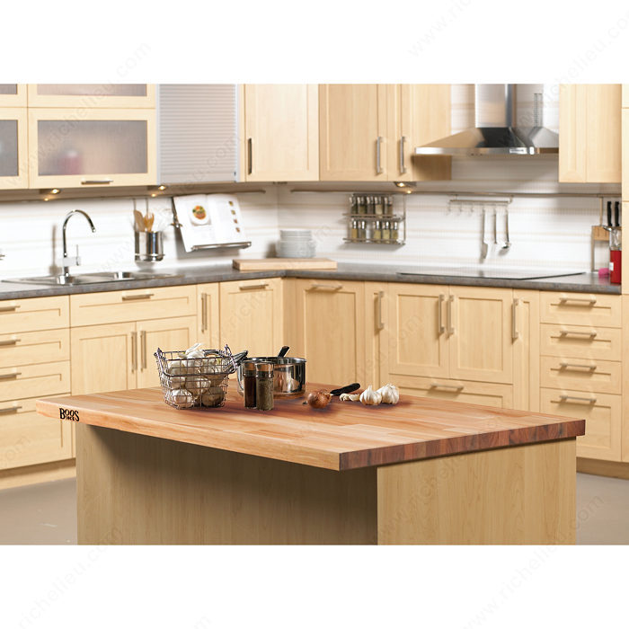 Kitchen Island Accessories: Countertops In Blended Wood