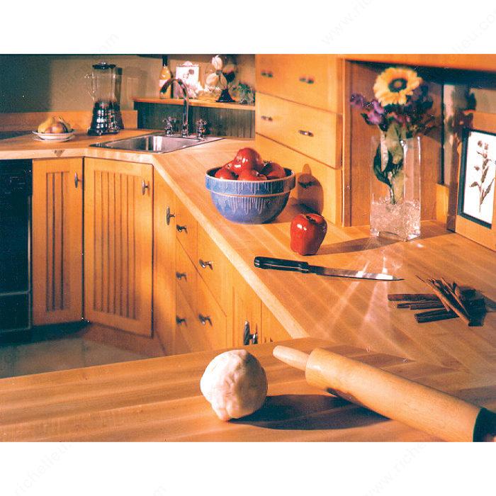 Dessus de comptoir en bois solide quincaillerie richelieu for Dessus de comptoir de salle de bain