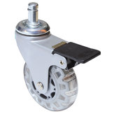 Contemporary Clear White/Gray Furniture Caster - Friction Grip Stem