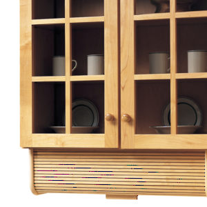 Tambour Appliance Garage - Solid Wood