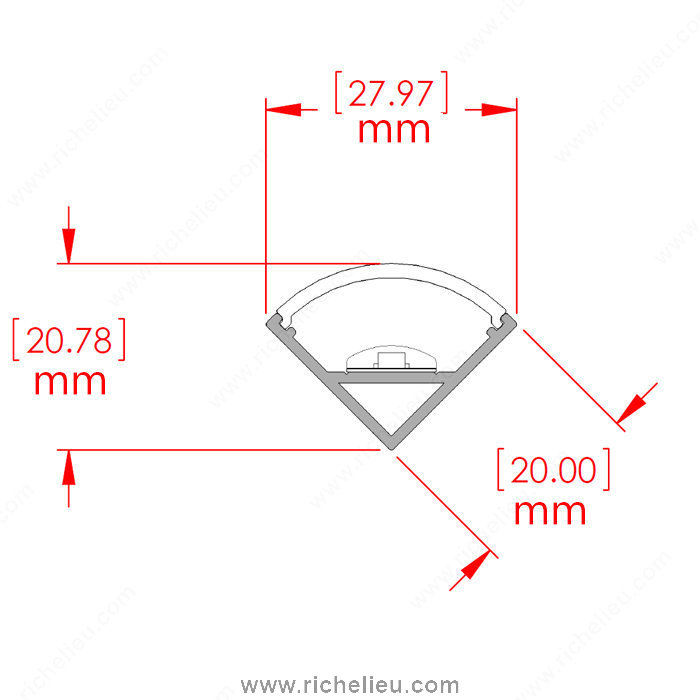 45 176 Corner Profile For Led Tape Light Richelieu Hardware