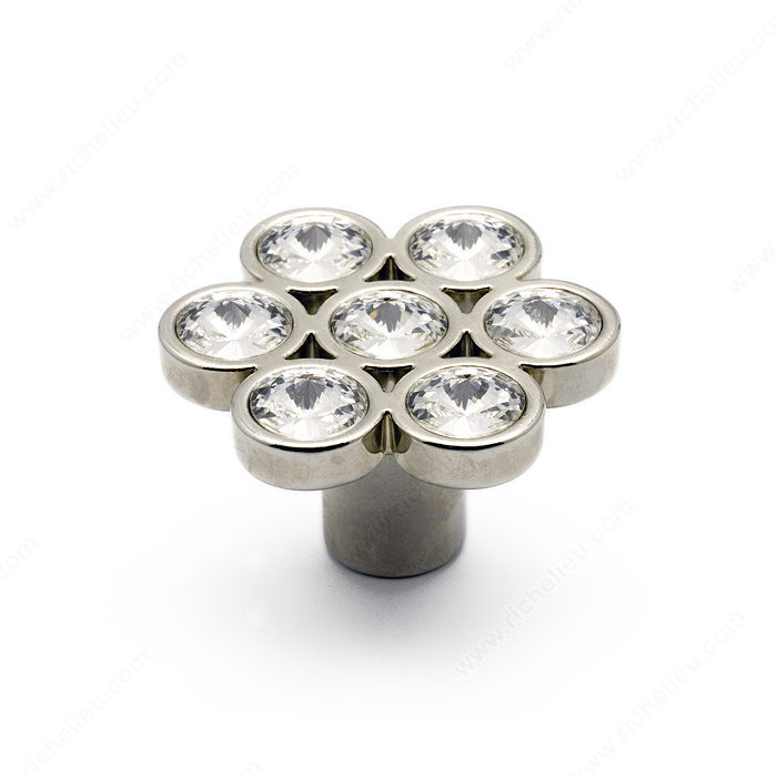 Contemporary Swarovski Crystal Amp Metal Knob 3077