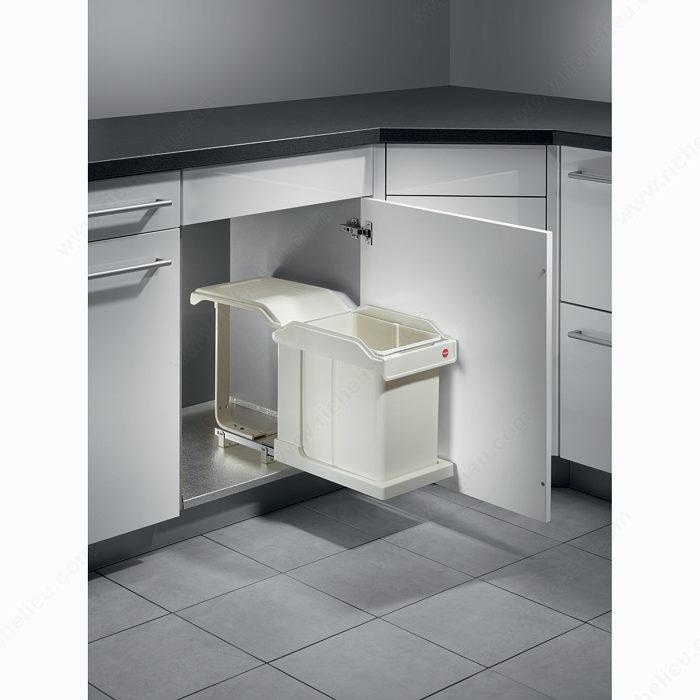 Poubelle de cuisine coulissante 1 bac 30 litres vue 3 - Poubelle encastrable 30 litres ...