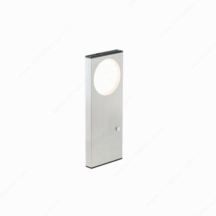vega iii led lithium powered rechargeable cabinet light with on off switch. Black Bedroom Furniture Sets. Home Design Ideas