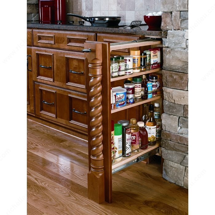 Kitchen Cabinet Accessories Pull Out: Base Cabinet Pull-Out Filler