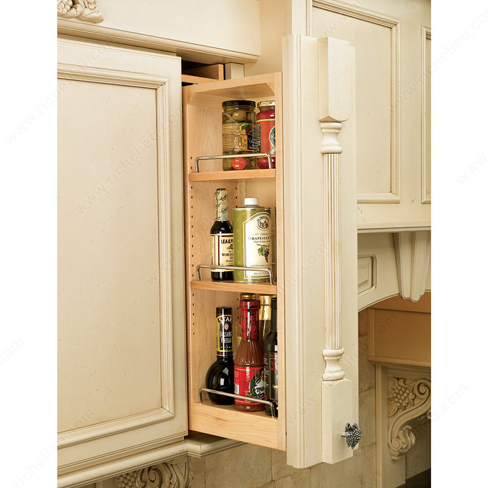 kitchen organizers for cabinets wall cabinet pull out filler richelieu hardware 21858