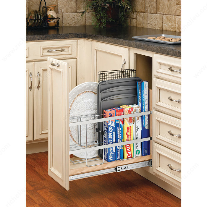 Kitchen Cabinet Accessories Canada: Pull-Out Base Cabinet Organizer