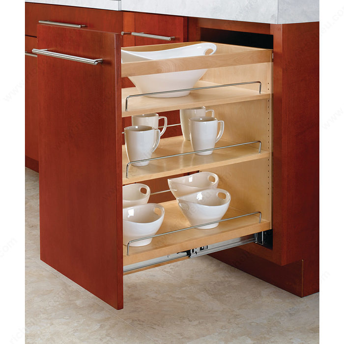Pull out organizer for base cabinet richelieu hardware Bathroom cabinet organizers pull out