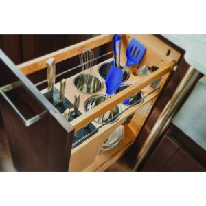 Base Pull-Out with Blumotion, Utensil Bins, and Knife Block