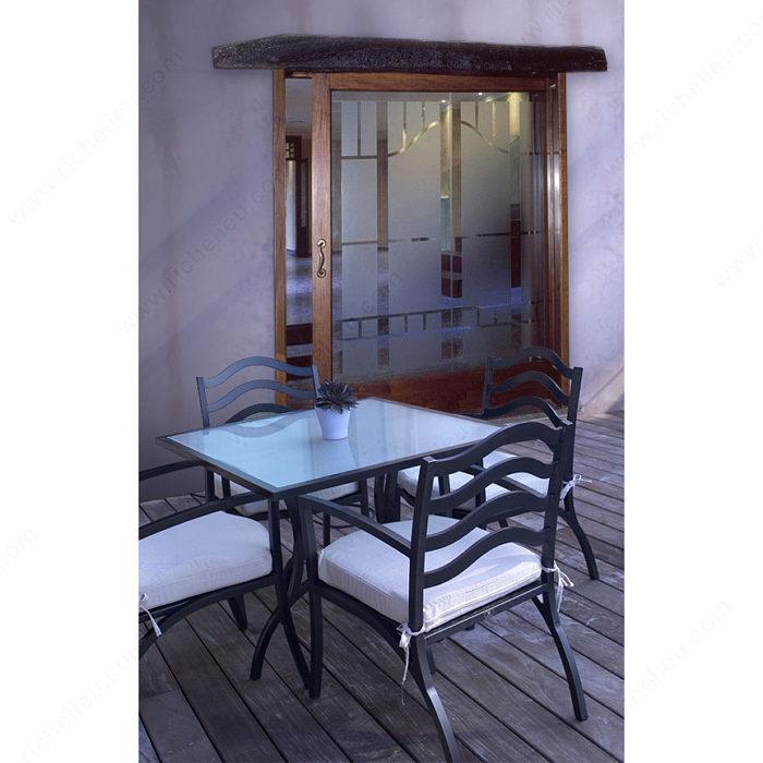 Jeu d 39 accessoires pour une porte coulissante en bois for Accessoires porte coulissante