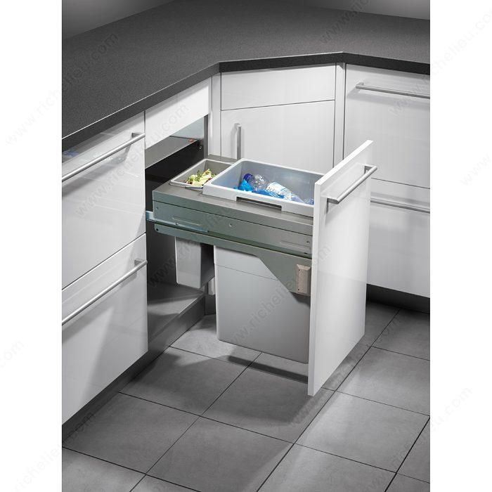 E cargo recycling center with soft close mechanism - Hailo poubelle encastrable cuisine ...