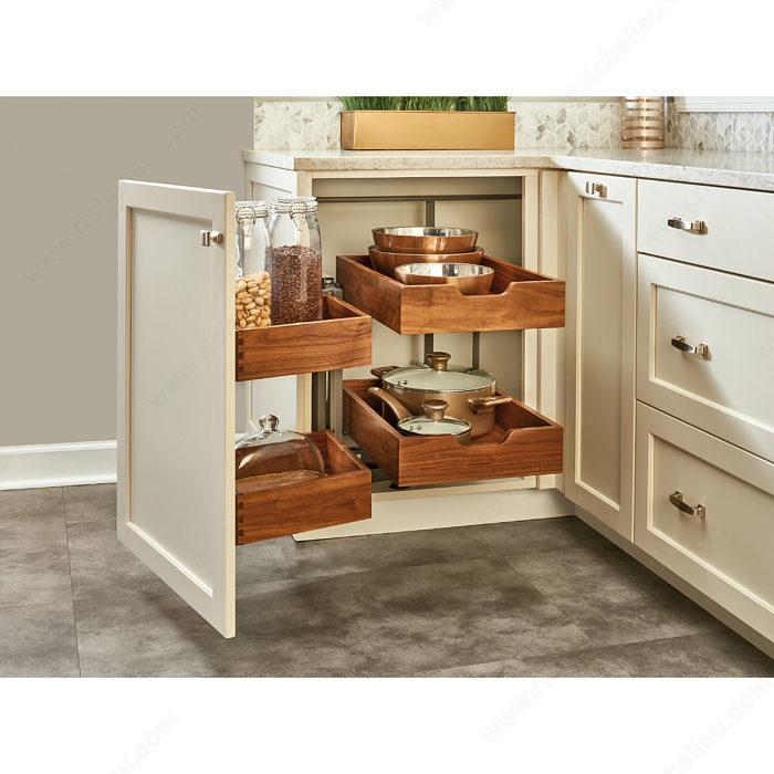 Kitchen Corner Cabinet Solutions: System For Wooden Corner Cabinet