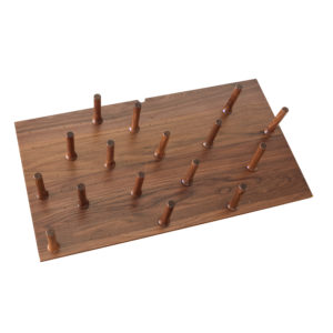 Wood Pegboard System with Pegs