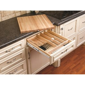 Combination Knife and Cutting Board Drawer