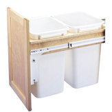 Double Pull-Out Waste Container