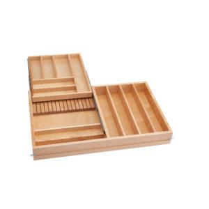 Tiroir coulissant combin en bois pour armoire cadre for Tiroir coulissant pour armoire de cuisine