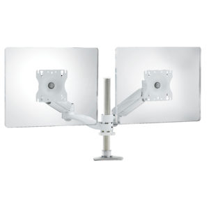 Triple-Pivot Dual LCD Arm with Height-Adjustable Segment