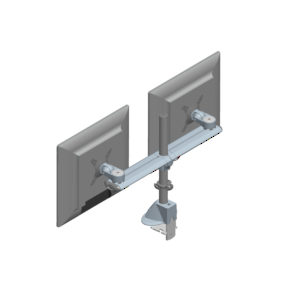 Desk-Mountable Dual LCD Monitor Arms
