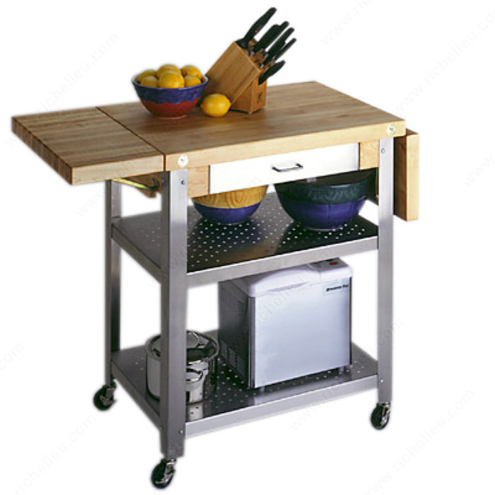 Kitchen Trolley Butcher Block : Butcher Block Trolley - Richelieu Hardware