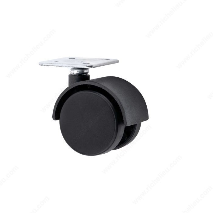 Roulette double pour meuble avec plaque quincaillerie for Roulette ancienne pour meuble