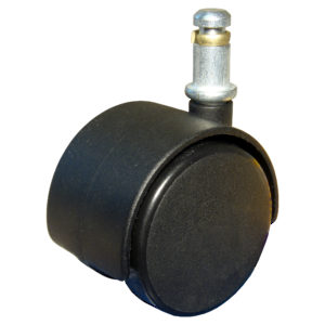 Dual-Wheel Furniture Caster - With Friction Grip Stem