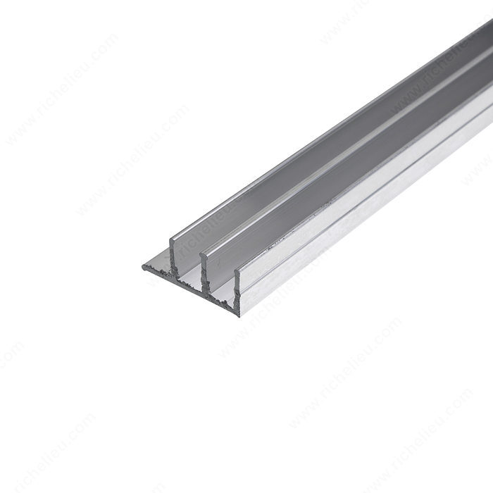 Riel de aluminio para puerta corrediza richelieu hardware for Puerta corrediza aluminio