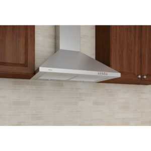 Stainless Steel Pyramid-Style Hood with Electronic Control