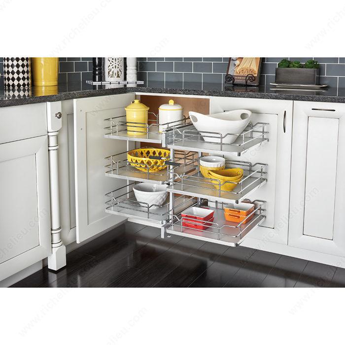 Kitchen Corner Cabinet Solutions: Three Tier Blind Corner Optimizer
