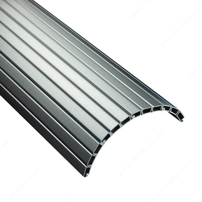 Polypropylene Tambour Slats Aluminum Finish Richelieu