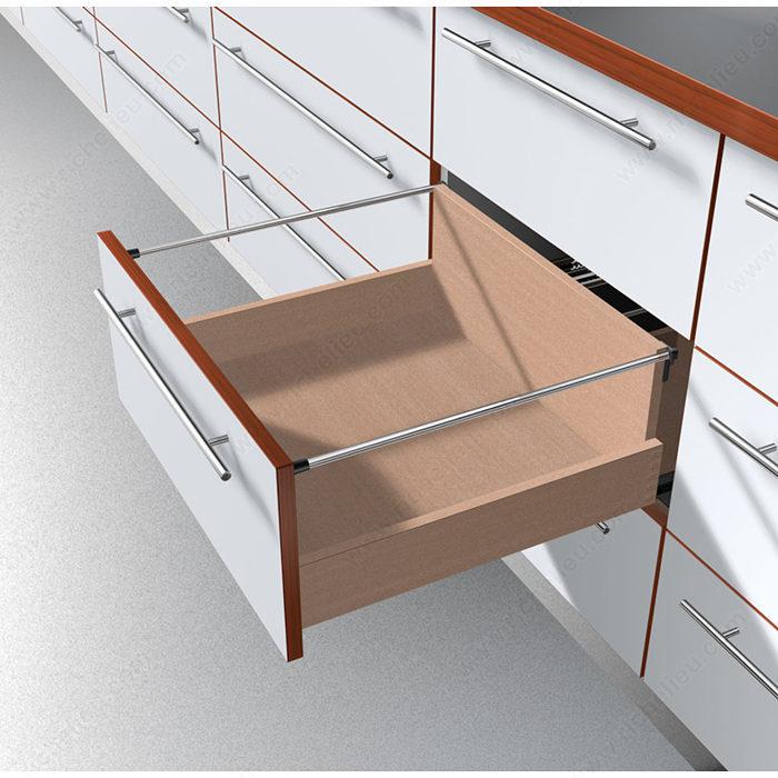 coulisse de tiroir invisible 566h sortie totale. Black Bedroom Furniture Sets. Home Design Ideas