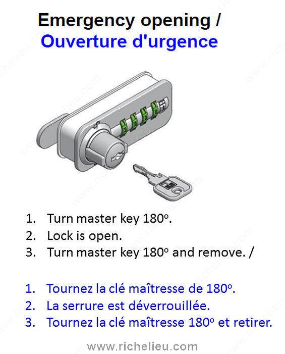 master key for combination lock richelieu hardware. Black Bedroom Furniture Sets. Home Design Ideas