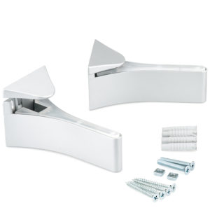 Flat Glass/Wood Wall Shelf Support