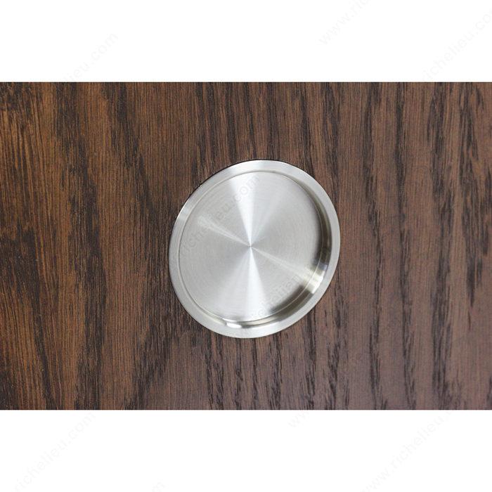 poign e double ronde en acier inoxydable pour porte en. Black Bedroom Furniture Sets. Home Design Ideas