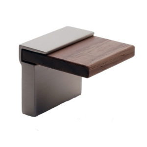 Contemporary Wood & Metal Knob - 599