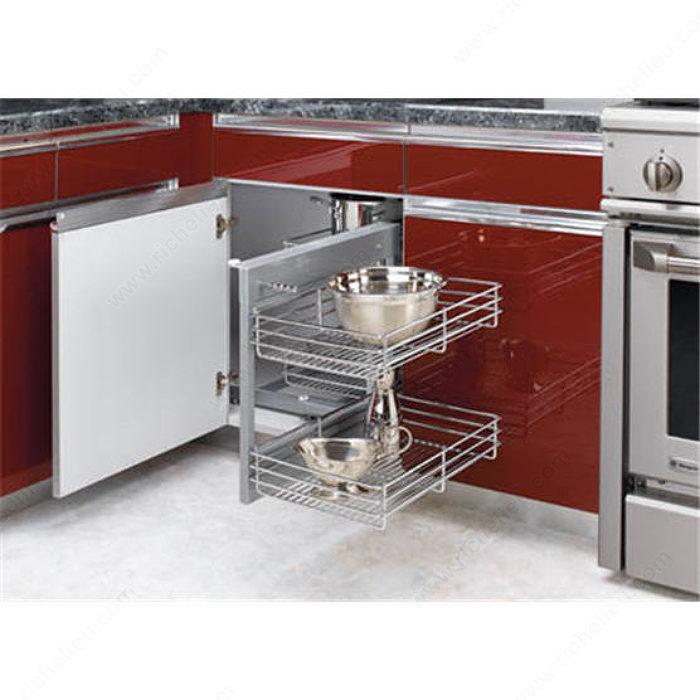 Kitchen Cabinet Accessories Blind Corner universal blind corner optimizer - 5psp15cr - richelieu hardware