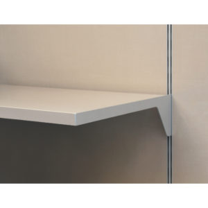 Vertical Single-Insert Support for Side-Milled Wood Shelf