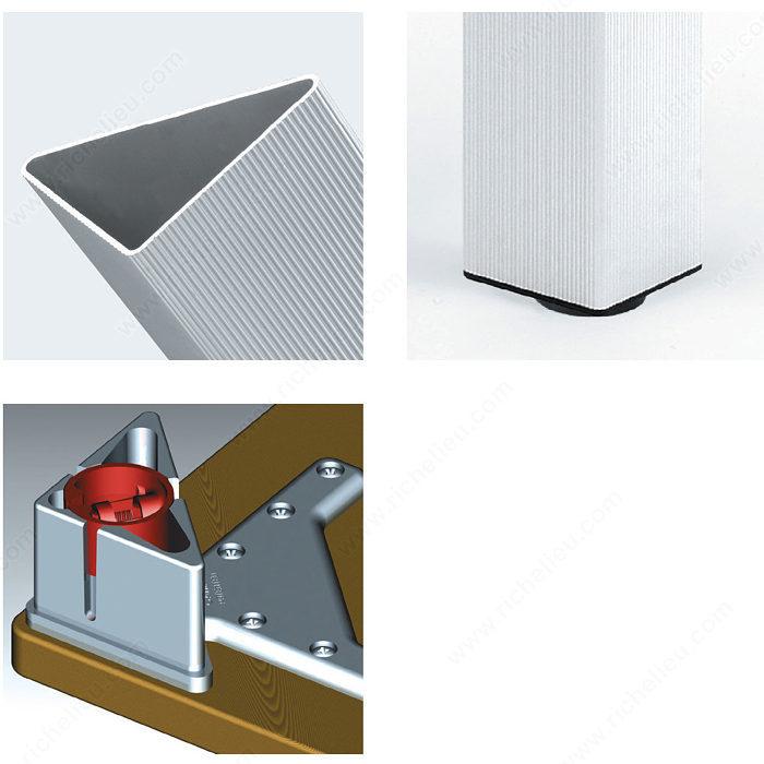 Patte de table design triangulaire 700 mm 27 1 2 po for Architecture triangulaire