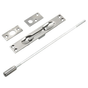"Flush Bolt for Metal Doors with 12"" Extension"