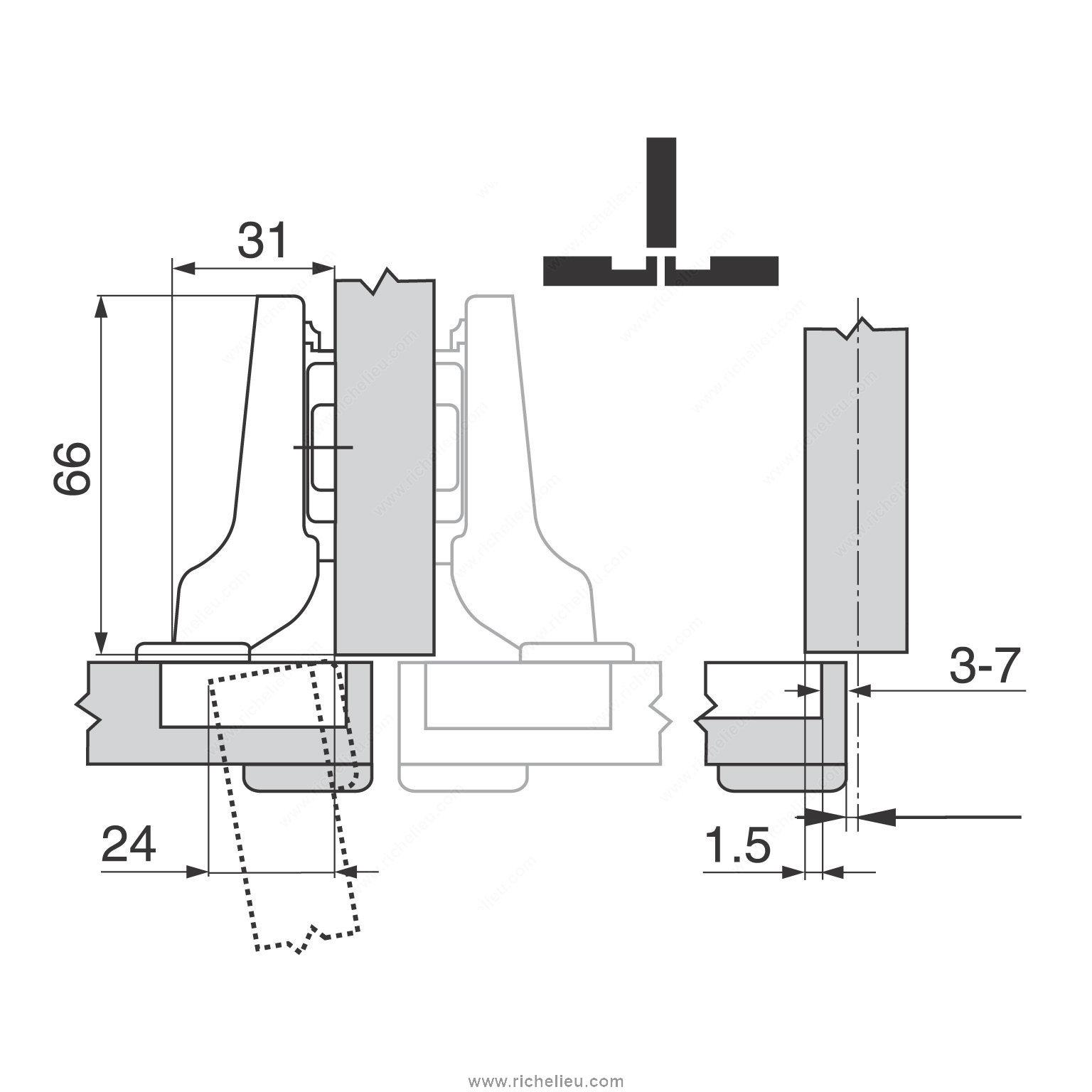 charni re clip top 170 quincaillerie richelieu. Black Bedroom Furniture Sets. Home Design Ideas