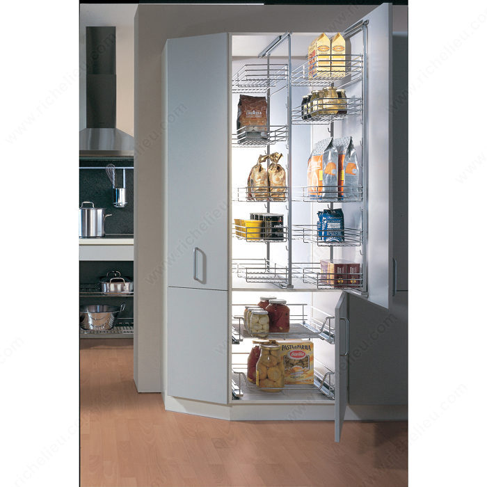 Partial Extension Pull Out Pantry System Frame Richelieu Hardware